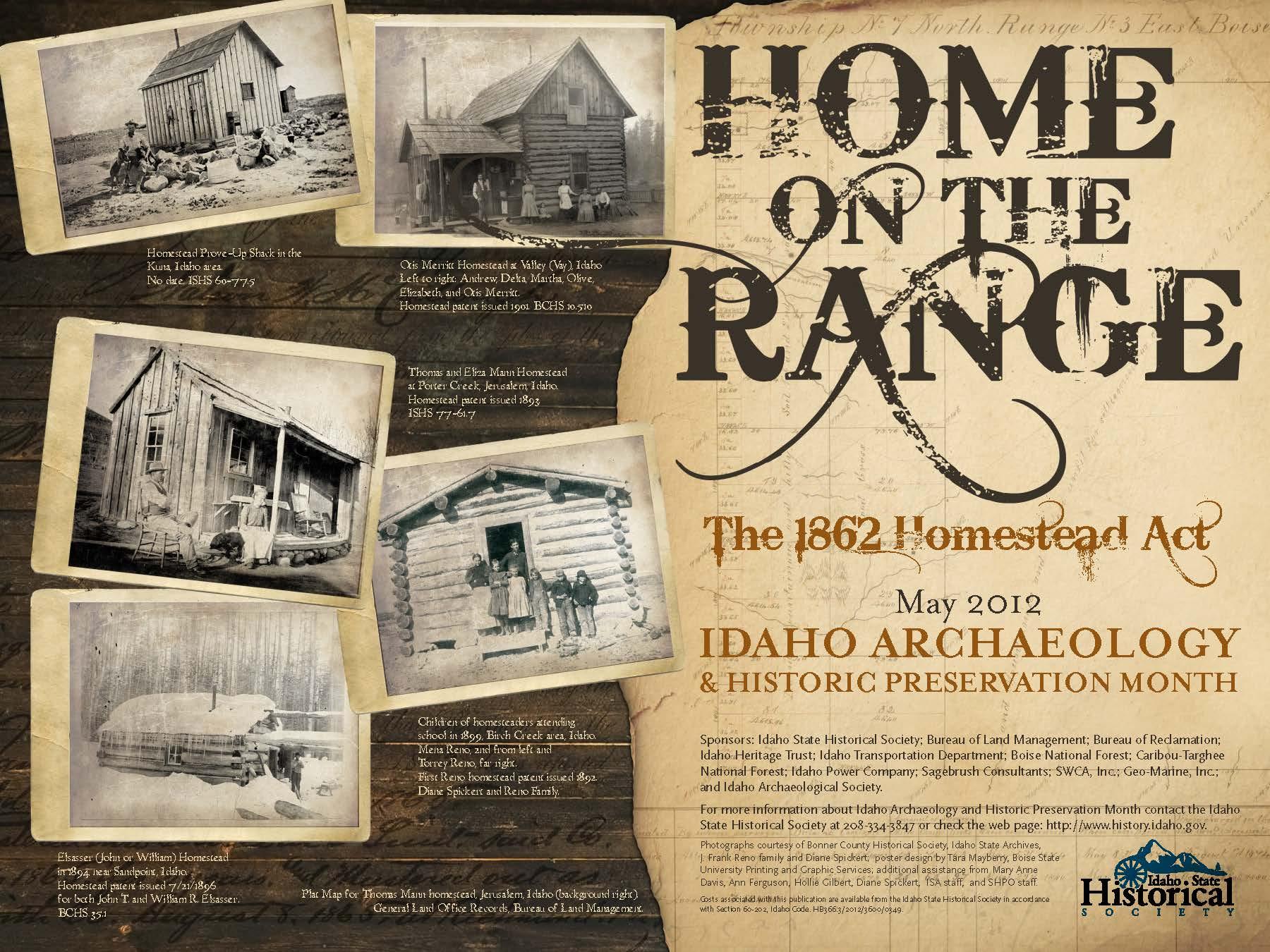 Idaho Archaeology and Historic Preservation Month - Idaho