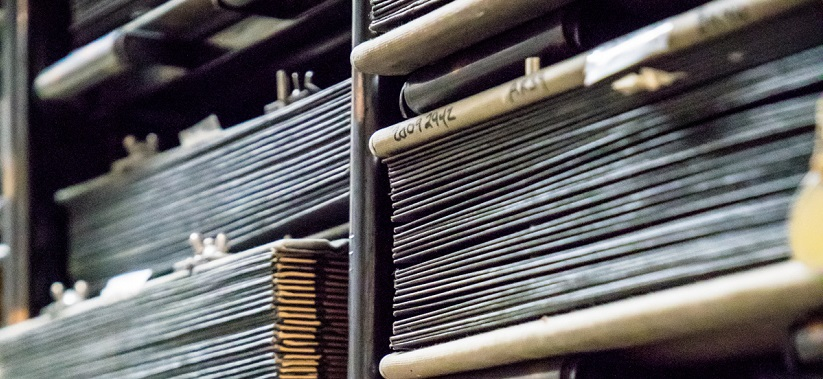 Close up of government archival materials