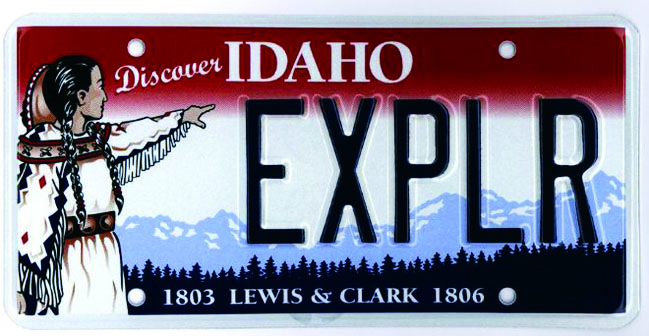 Lewis & Clark License Plate