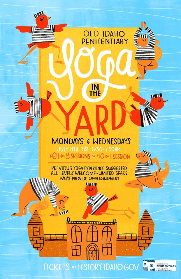 Yoga in the Yard Poster